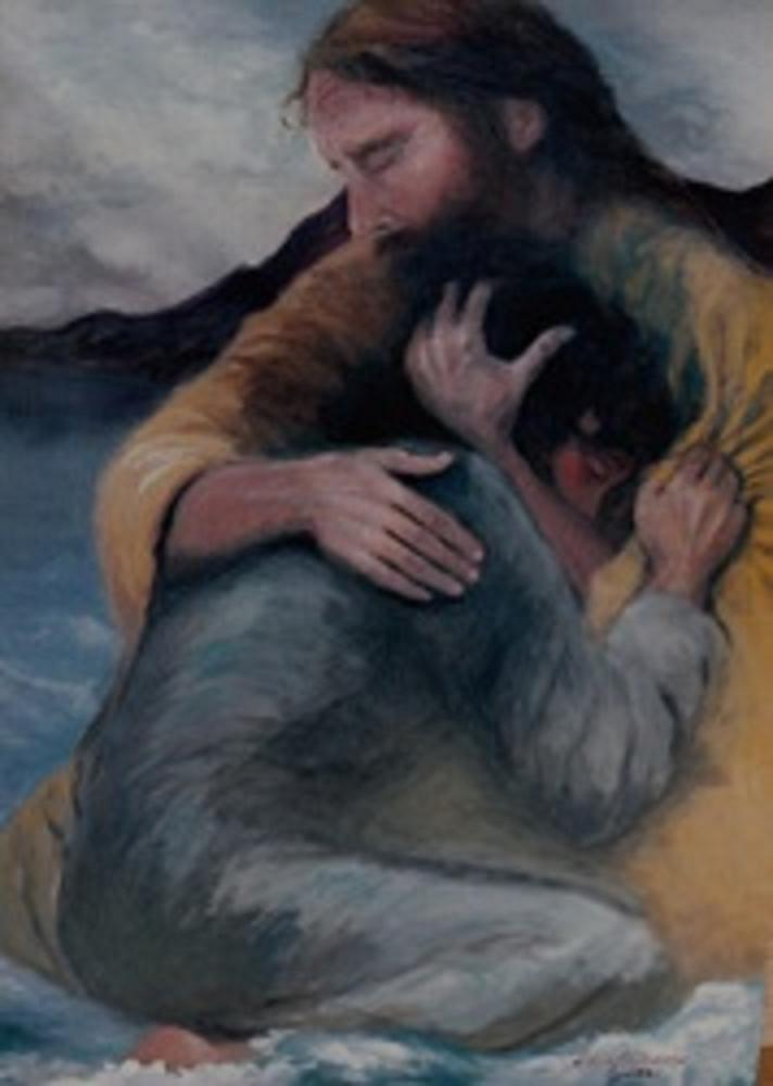 Jesus holding me